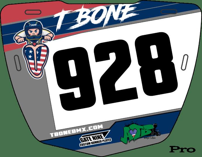 custom T-Bone Number Plates